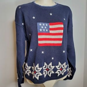 Christopher and Banks Patriotic Sweater